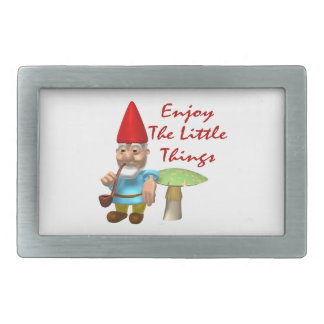 Enjoy The Little Things Gnome Rectangular Belt Buckle
