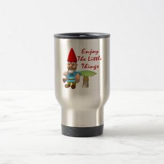 Enjoy The Little Things Gnome Travel Mug