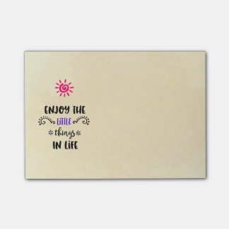 Enjoy The Little Things In Life Typography Quote Post-it® Notes