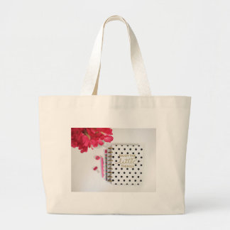 Enjoy the Little Things Large Tote Bag