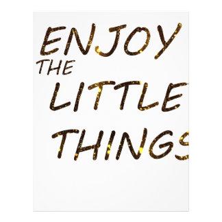 ENJOY THE LITTLE THINGS LETTERHEAD