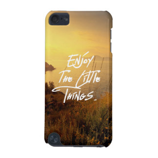 """""""Enjoy the little Things""""  Quote Sunset Sea View iPod Touch (5th Generation) Cover"""