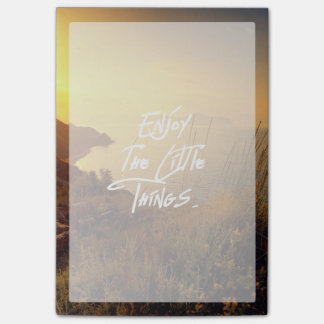 """Enjoy the little Things""  Quote Sunset Sea View Post-it® Notes"