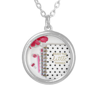 Enjoy the Little Things Silver Plated Necklace