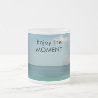 Enjoy the Moment Frosted Glass Coffee Mug