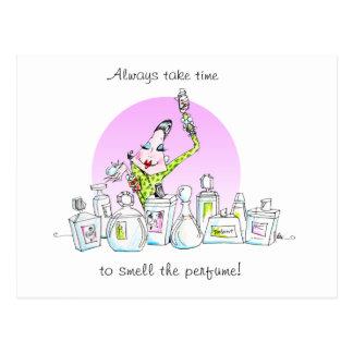 Enjoy the perfume postcard