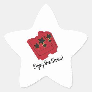 Enjoy The Show Star Sticker