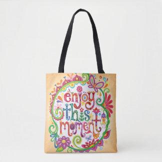 Enjoy This Moment Tote Bag / Cross Body Bag