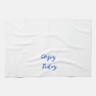 enjoy today kitchen towel