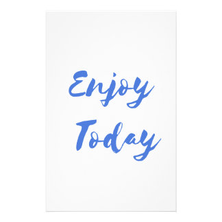 enjoy today stationery
