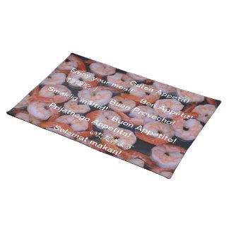 Enjoy your crunchy shrimps! place mat