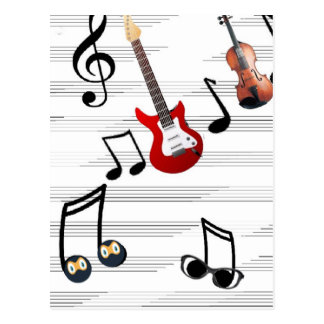 Enjoy your life with music notes postcard
