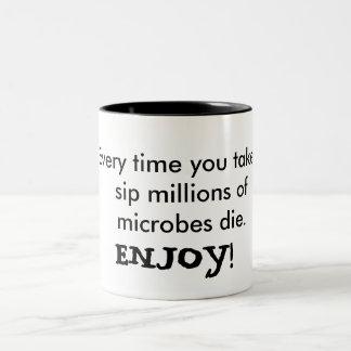 Enjoy your microbes Two-Tone coffee mug