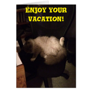 Enjoy Your Vacation, greeting card