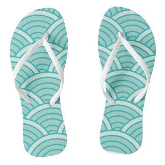 enjoy your waves fashion, simple sweet love flip flops