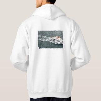 Enjoying on a fast boat hoodie