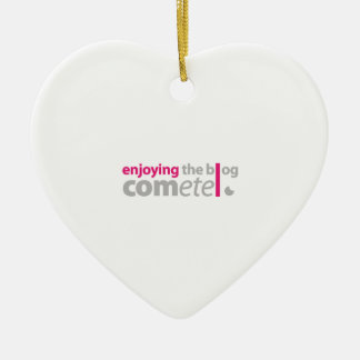 Enjoying the blog Commits the point Ceramic Heart Ornament