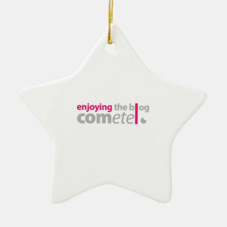 Enjoying the blog Commits the point Ceramic Ornament