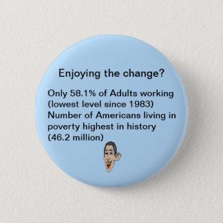 Enjoying the change? 2 inch round button