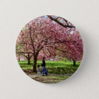 Enjoying the Cherry Trees 2 Inch Round Button