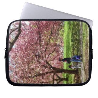 Enjoying the Cherry Trees Laptop Sleeve