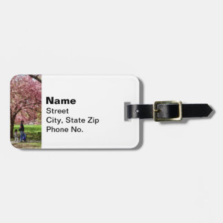Enjoying the Cherry Trees Luggage Tag