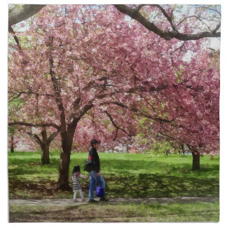 Enjoying the Cherry Trees Napkin