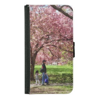 Enjoying the Cherry Trees Samsung Galaxy S5 Wallet Case