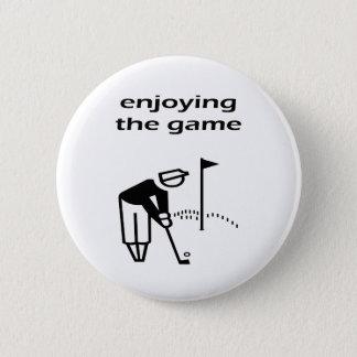 Enjoying The Game Golf Design 2 Inch Round Button
