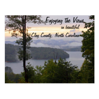 Enjoying the Views in Clay County North Carolina Postcard