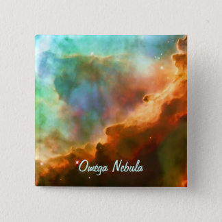 Enlarged Region of The Omega Nebula 2 Inch Square Button