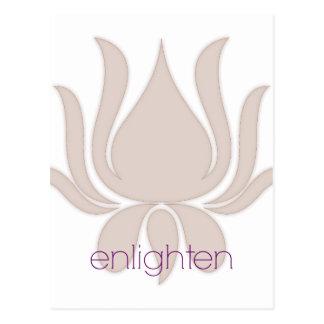 Enlighten Lotus Postcard