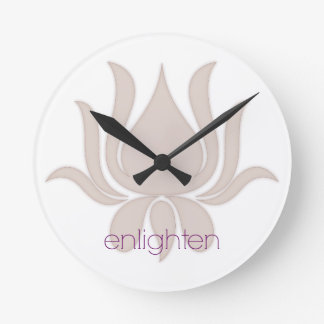 Enlighten Lotus Round Clock
