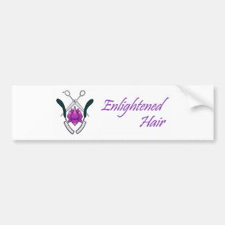 Enlightened Hair Bumper Sticker