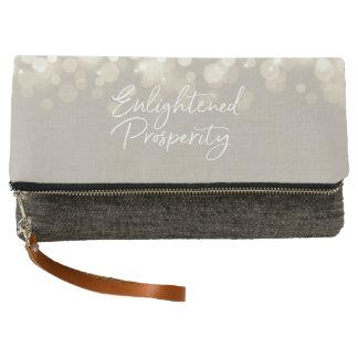 Enlightened Prosperity Zippered Fold-Over Clutch