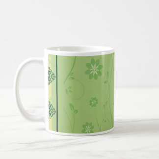Enlightening greenish floral wedding gift mug