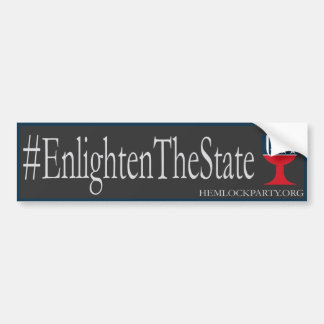 #EnlightenTheState - Dark Bumper Sticker