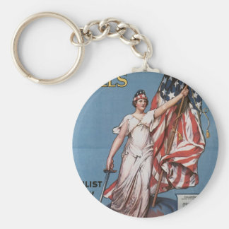 """Enlist Now for U.S. Army"" circa 1916 Basic Round Button Keychain"