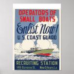 Enlist Now! U.S. Coast Guard Poster