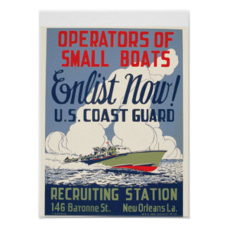 Enlist Now! U.S. Coast Guard Poster