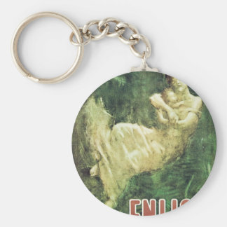 Enlist Old U S Military Poster circa 1915 Keychains