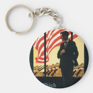 """""""Enlist"""" Old U.S. Military Poster circa 1917 Key Chains"""
