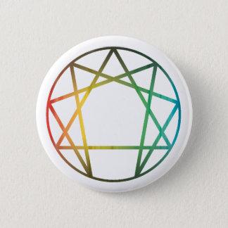 Enneagram Rainbow 2 Inch Round Button
