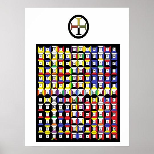 Enochian Earth Tablet Poster