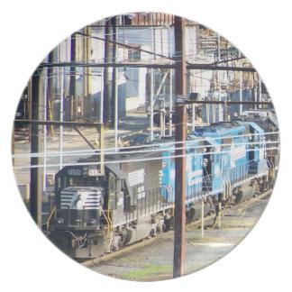 Enola Norfolk Southern Railroad Yard Harrisburg PA Plate