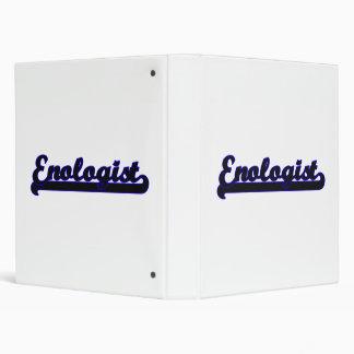 Enologist Classic Job Design Binders