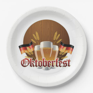 Enough For All Oktoberfest Party Paper Plates