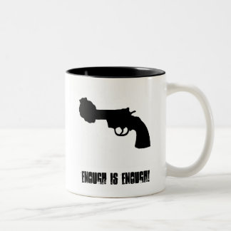 Enough is Enough! - Non Violence Now! Two-Tone Coffee Mug