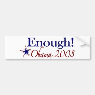 Enough Obama 2008 (Lipstick on a pig) Car Bumper Sticker