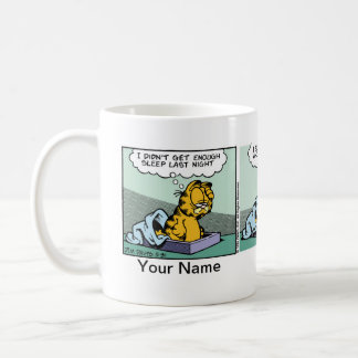 """Enough Sleep"" Garfield Comic Strip Classic White Coffee Mug"